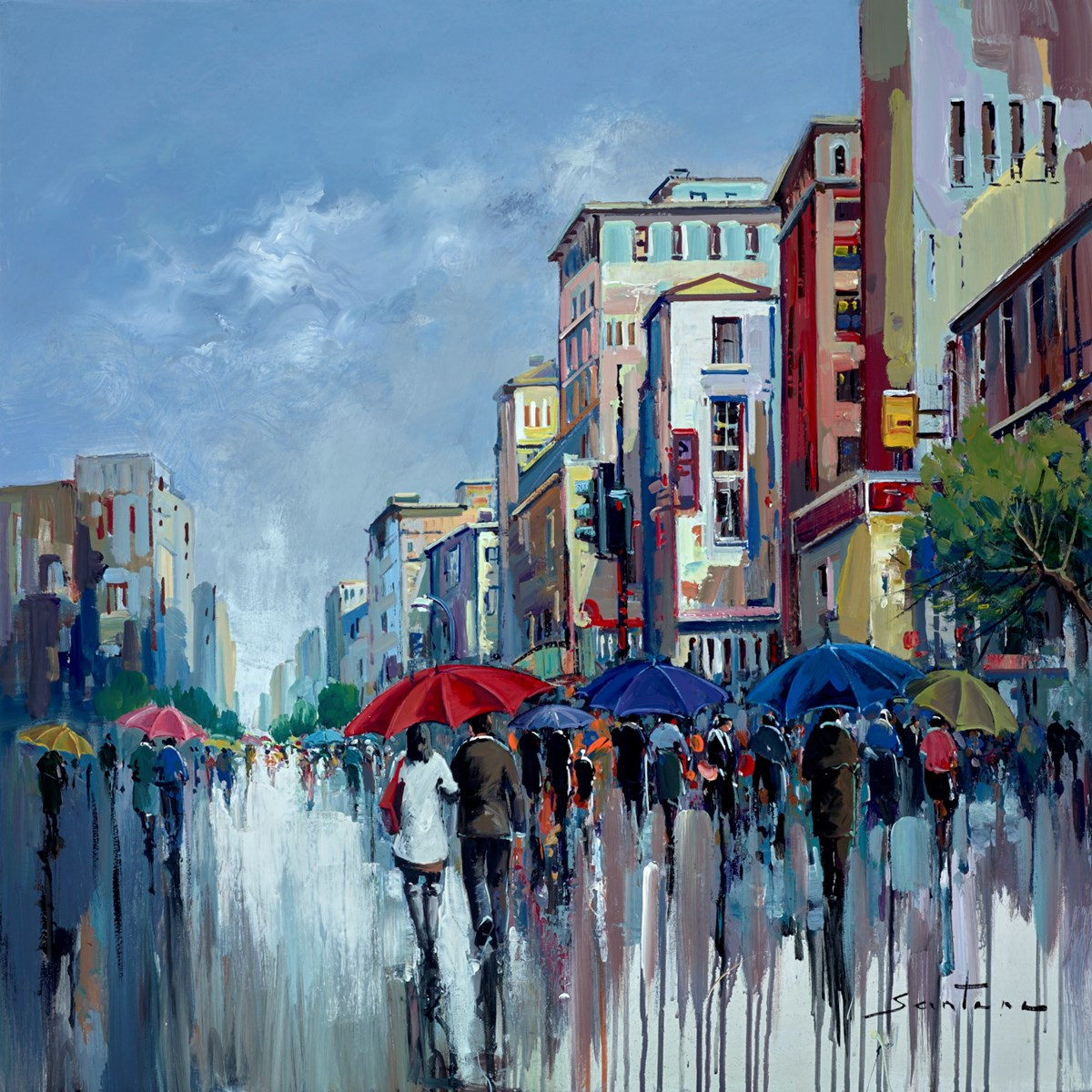 City Streets III by santana -  sized 32x32 inches. Available from Whitewall Galleries